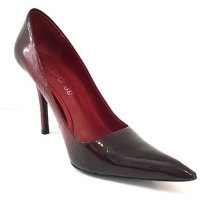 Aldo Burgundy Pointy Toe Pumps